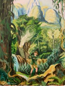 Sergio Mora, «Study for Gerald Durrell's fascination», 2020, 45 x 60cm