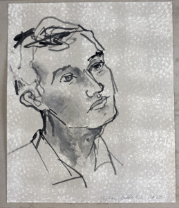Stephan Balkenhol, «Mann», 2020, chinesse ink on paper