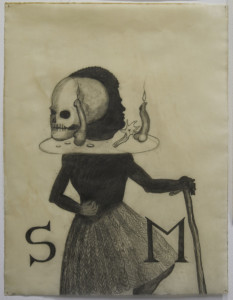 "Sandra Vásquez de la Horra, ""El sueño de Jacob"", 2016, graphite on waxed paper, 76 × 53 cm"