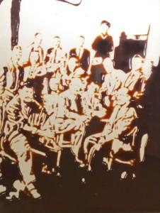 Vik Muniz, The irascibles, 1998,  CibaChrome. Copia fotográfica por oxidación de corantes