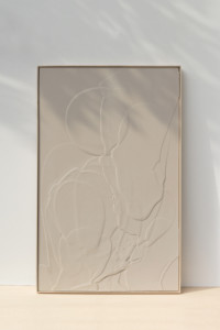 Carla Cascales, Sand Balance, 2020, natural resin on linen canvas, 130 x 81cm