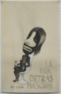 Sandra Vasquez de la Horra, Santa Muerte, 2017, Grafito sobre papel bañado en cera, 63 x 48.5 cm