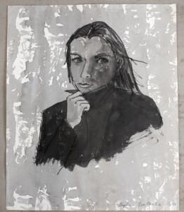 Stephan Balkenhol, «Mann», 2020, chinesse ink on paper