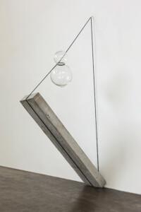 """Túlio Pinto, """"Geométrico elemental #1"""",  steel and blown glass, Ed 3+2AP,  50 x 170 x 30 cm"""