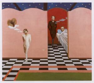 Impotències. Técnica mixta sobre tela. 81 x 93 cm. 1995
