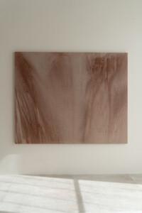 Terracotta 19. Pigmento natural sobre lino. 162 x 200 cm. 2021